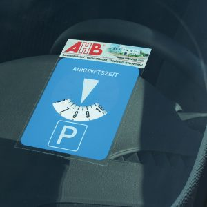 Adhesive Parking Disc