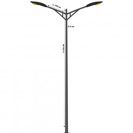 Mast for street lamp