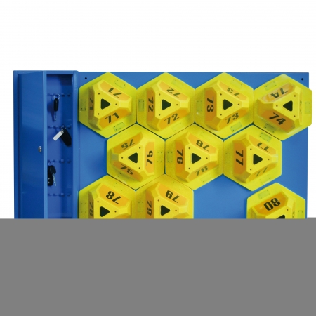 Key Cabinet for guide number carriers