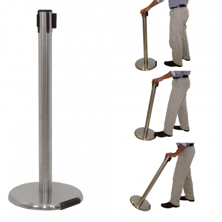 Barrier Post with belt system