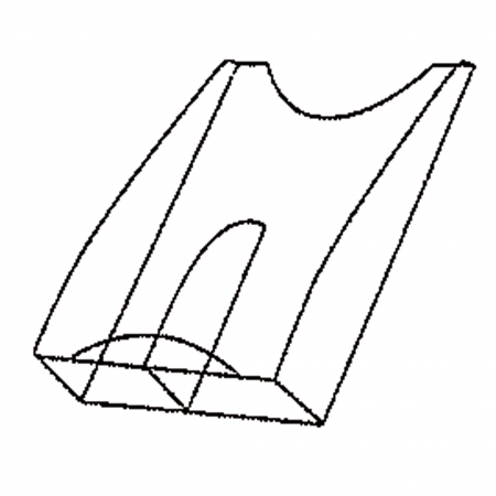 Divider for 2 x DIN long
