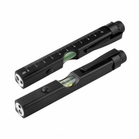 LED light with laser pointer and clip