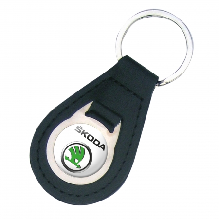 key tag lether and metal